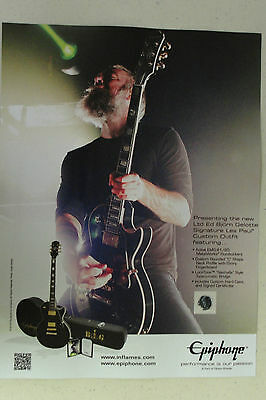 IN FLAMES Bjorn Gellote EPIPHONE GUITARS Full Page AD magazine clipping 2016