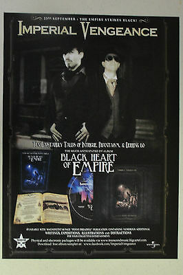 """IMPERIAL VENGEANCE """"Black Heart of Empire"""" Full Page AD magazine clipping"""