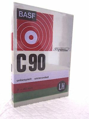 CASSETTE TAPE BLANK SEALED - 1x (one) BASF C90 LH [1971] SPECIAL FORMAT