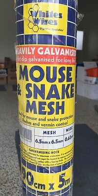 3x MOUSE/SNAKE MESH-900x6.5x6.5x 0.63mmx5m Plus 2 extra rolls. For mice Etc