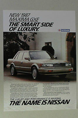 NISSAN MAXIMA GXE Full Page AD magazine clipping 1987