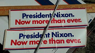 OLD BUMPER STICKER NIXON IS THE ONE  never used  OLD as is