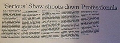 Serious Actor Martin Shaw Doyle Professionals Blocks Repeats Times Article 1988