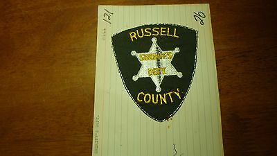 Russell County Alabama  Sheriff's Depart Salesman Copy Obsolete Patch Bx Y #121
