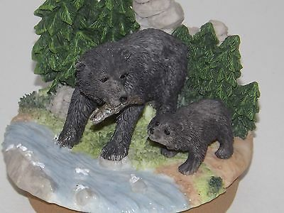 Home Interiors Black Bear Candle Topper ~NEW~