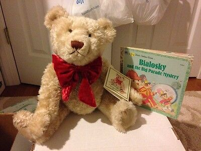 "Bialosky Bear 2002 100th Anniversary of The Teddy Bear Red Bow 18"" W Tags"