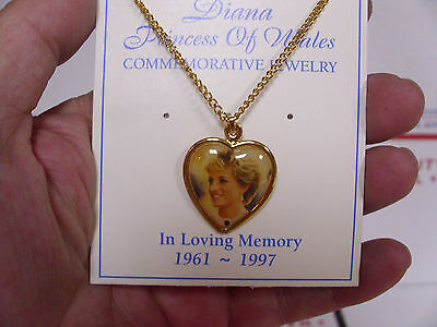 * Princess Diana necklace costume jewelry & collector card lot