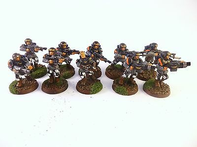 Warhammer 40k Imperial Guard Cadian Veteran Squad Well Painted
