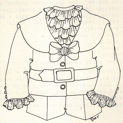 """Period clothes BOY outfit French German Victorian PATTERN for a 12"""" 13"""" Doll 297"""