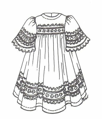 "SEWING PATTERN fits 15 16 "" DOLL dress clothes outfit  Victorian country 557"