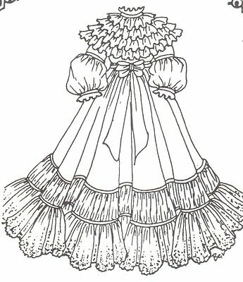 """SEWING PATTERN fits 13-14"""" DOLL DRESS Victorian French Little Darling 314"""