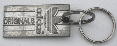 VINTAGE Adidas Originals Metal Keychain Tag 3 Different Languages On Back