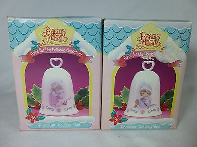 PRECIOUS MOMENTS Lot of 2 HOME FOR THE HOLIDAYS Bells