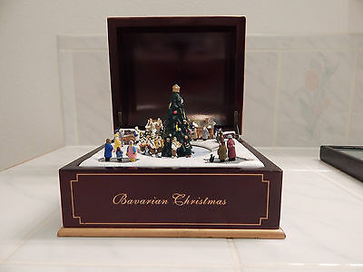 MR Christmas Music Box BAVARIAN  rounded top pop up tree rotating