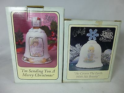 PRECIOUS MOMENTS Lot of 2 Bells 1995 1998 Christmas