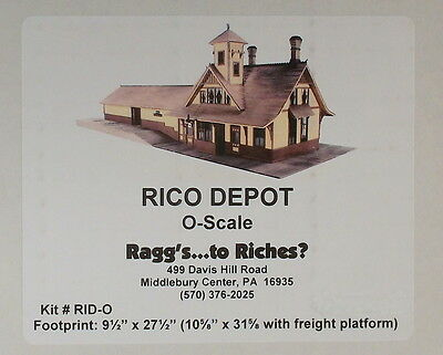 "On3 On30 O CRAFTSMAN RAGGS TO RICHES ""RIO GRANDE SOUTHERN RICO,CO DEPOT"" NEW"