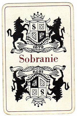 "RARE VINTAGE ""Sobranie Cigarettes"" SINGLE Playing Card"