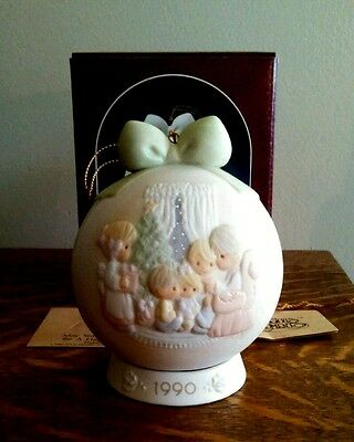 Precious Moments Ornament #523704 - 1990 - May Your Christmas Be A Happy Home