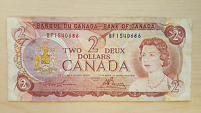 1974 Bank of Canada - Two Dollars Banknote