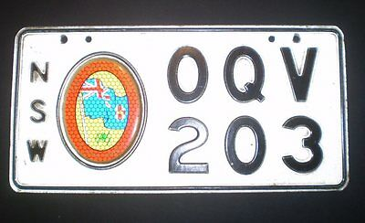 Australian number plate from NSW Commemmorative -  OQV203