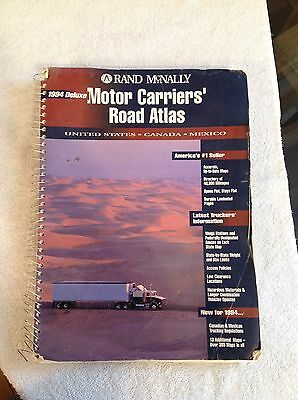 Rand McNally Motor Carriers' Road Atlas~1994~Deluxe~Free U.S. Shipping!