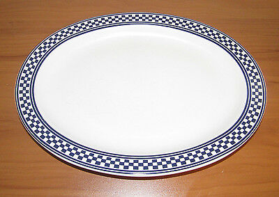 "International Tableworks CLASSIC CHECKS BLUE 14"" Serving Platter #208 (1994)"