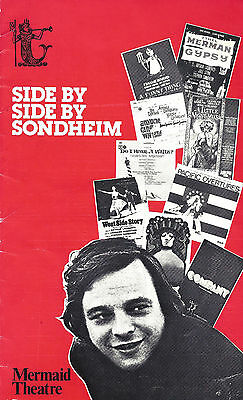 """Stephen Sondheim """"SIDE BY SIDE BY ..."""" Millicent Martin 1976 London Playbill"""