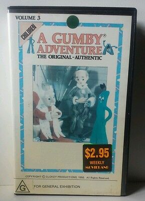 Gumby The Original -Authentic VHS  Video  Vintage Tape