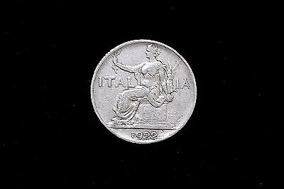 1922 R Italy 1 One Lire Coin KM 62 A1