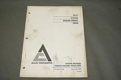Allis Chalmers Model 11000 Engine Parts Catalog  Manual                      215