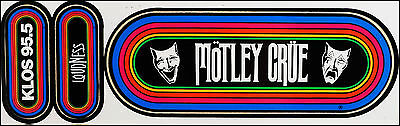 Motley Crue / Loudness 80's KLOS Rainbow Concert Stickers Theater Of Pain