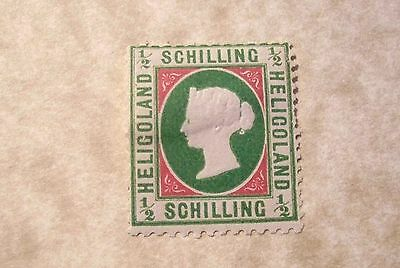 Heligoland #9 Unused *Hinged 1/2sch Victoria (rouletted) from 1867-68 (Hl00)