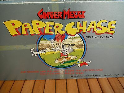 Vintage Ginger Meggs Paper Chase Board Game Deluxe Edition Complete