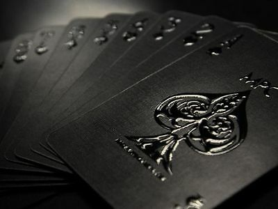 Impressions Black Stealth Rare Limited Custom Playing Cards Pro Poker Deck £££