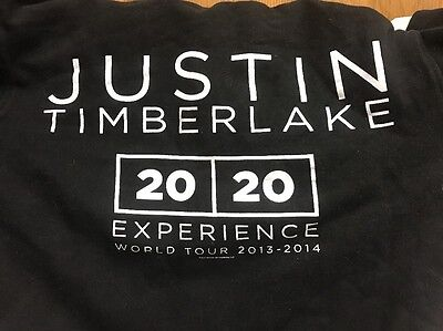"Justin Timberlake 20/20 Experience World Tour 2013-14 Zip Up Hoodie ""MEDIUM"""