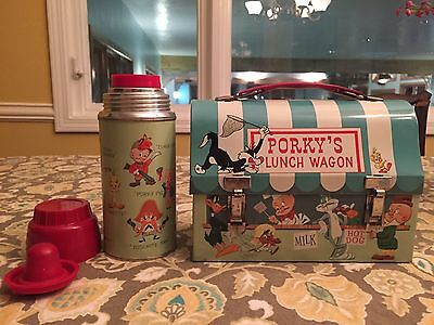 1959 Porky's Lunch Wagon Dome LunchBox, Near MINT Wow!