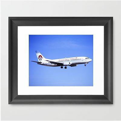 America West Airlines 737-300 - Framed Print (12x10)