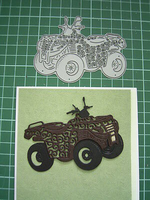 QUAD BIKE DIE D792 Tattered Lace S Weightman - great for male themed projects!