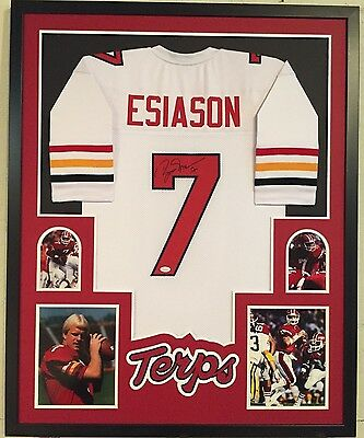 Framed Boomer Esiason Autographed Signed Maryland Terrapins Jersey Jsa Coa