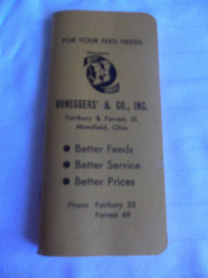 Honeggers' & Co., Inc. 1934 Ready Reference BookFor Ranchers & Farmers. Fairbury