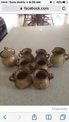 Pottery Coffee Cup Set