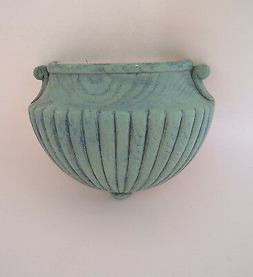 Vintage Home Interior Fluted Wall Pocket, HOMCO Plastic, 6061 1982, Wall Hanging