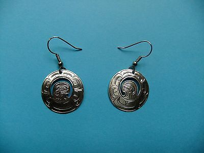 Sterling Silver Eagle Earrings - First Nations - Northwest Coast - Beauties