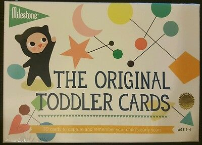 New in Box - The Original Toddler Cards by Milestone (Unisex)