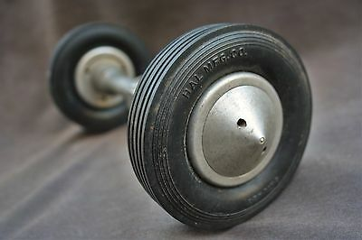 Pre-War Hall MFG. Co.(A.H.B. Models) Front Axle Tires & Wheels Tether Race Car