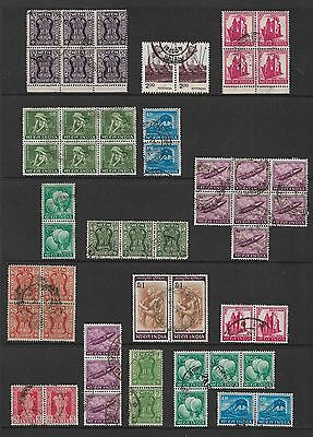 INDIA - mixed collection, joined blocks strips pairs No.3