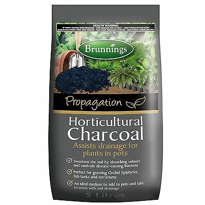 Brunnings Horticultural Charcoal 5L -  Excellent for Terrarium or Orchids.