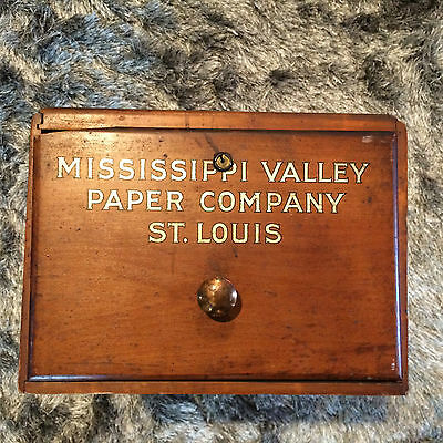 Butler Brands-Mississipps Valley Paper Company St Louis-Wooden Drawer Cabinet