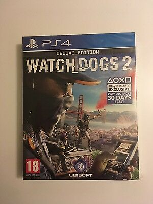 Watch Dogs 2 Deluxe Edition PS4 Brand New Sealed