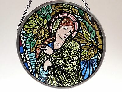 Madonna Stained Glass Window Sun catcher Roundel 6 inch Winchester Cathedral